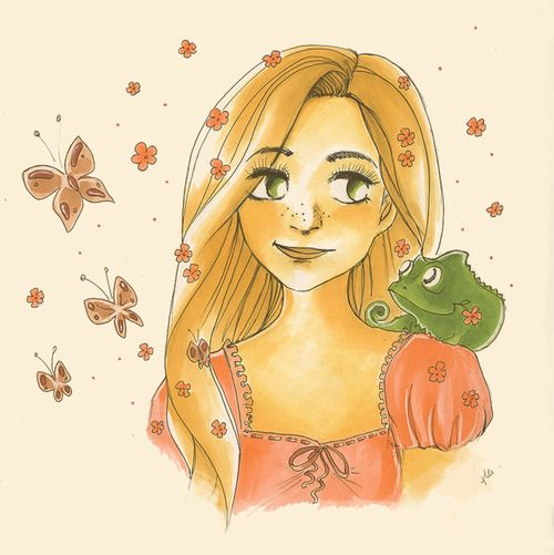 TOOLIEPANNA artbook | Rapunzel and Pascal