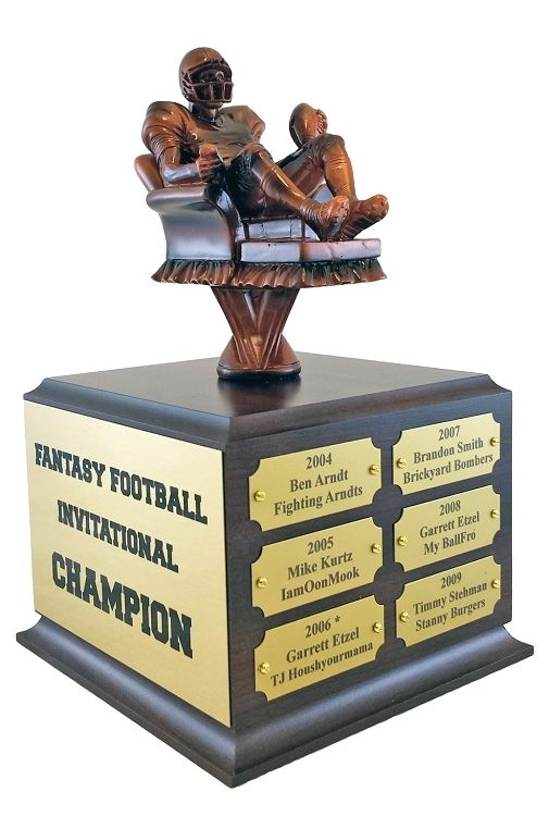 Fantasy Football Armchair Quarterback Perpetual Trophy | Fantasy NFL | Regular and Large Size