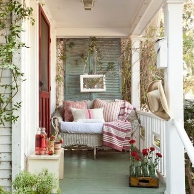 This Is A Cozy Narrow Porch I Like The Use Of The