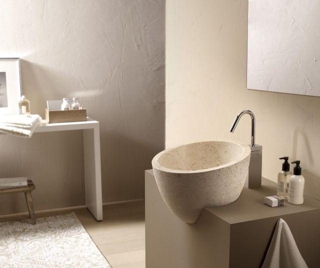 standwaschtisch aufsatzwaschbecken rund naturstein Mirage bathco