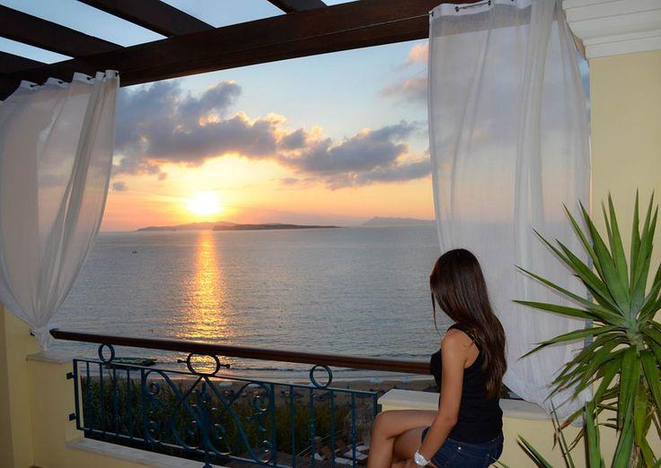Lovely sunset..lovely girl.. lovely landscape..