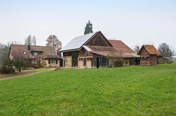 3'932 m² Gewerbeland mit Haus sowie Scheune und Stall
