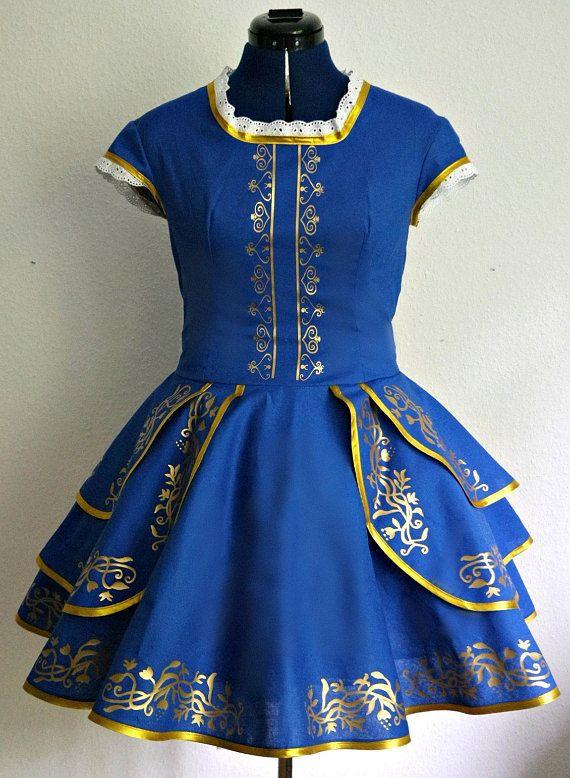 Kleid blau gold warum