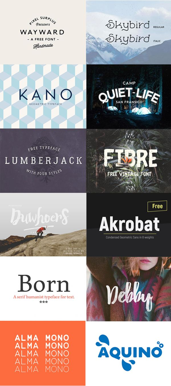 12 Awesome FREE fonts. Download now https://desket.co/blogs/news/12-best-free-fonts-of-2016