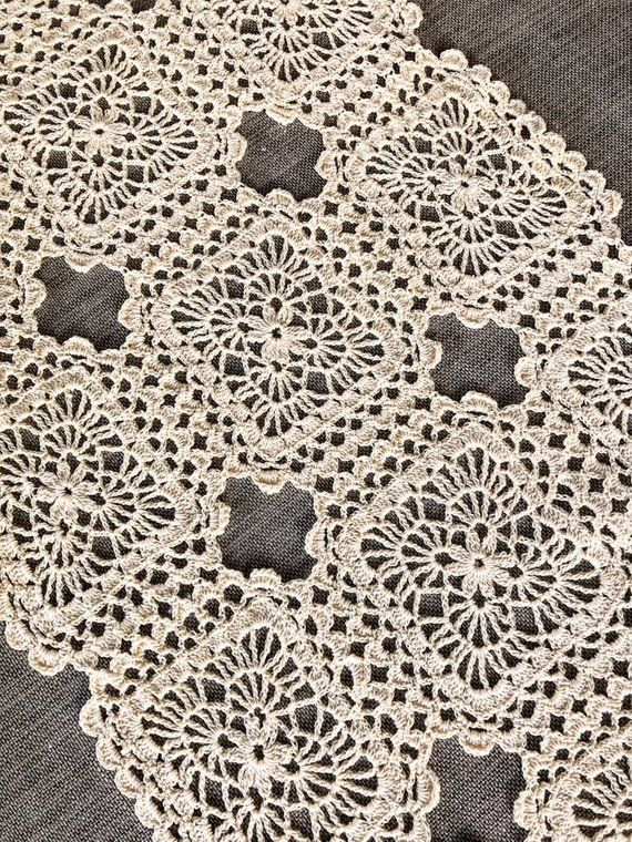 Home Accessories Table Runner Crochet Pattern PDF Ornamental Decorative Table Mat epattern Download Vintage Crochet Patterns for the Home