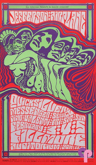 Jefferson Airplane at Fillmore Auditorium 2/3-5/67 by Wes Wilson