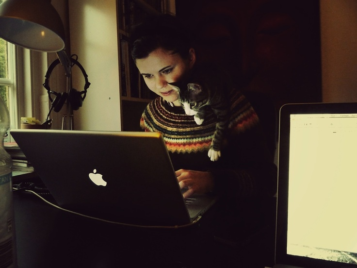 Meet the most critical member of our web design team - Meesh the cat. Some days she turns our Creative Director into a broken woman!