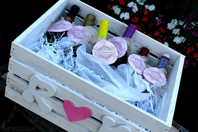 Creative Wedding Gift Ideas To Make: Bridal Shower Gift Idea, Basket Of Firsts, Wine Basket Of