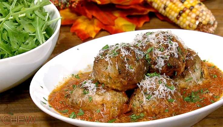 Mario Batali's Big Turkey Meatballs - Polpette Di Tacchino #thechew