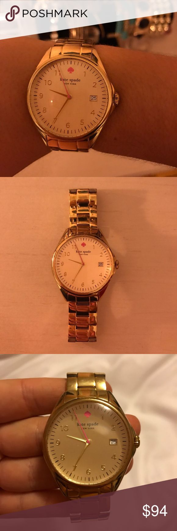 Kate Spade Gold Watch Kate Spade Gold Watch. Good condition needs new battery. kate spade Accessories Watches