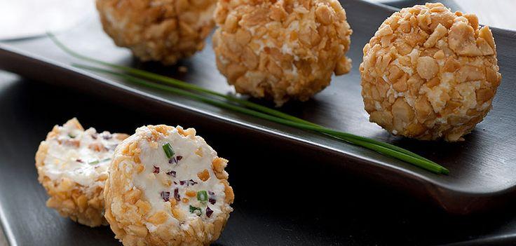 Le palline di philadelphia con arachidi e radicchio: ricette facilissime