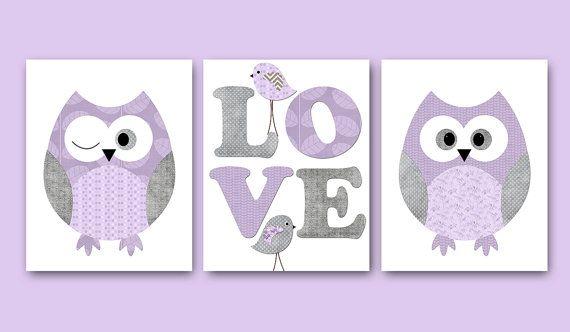 kids wall art owl nursery owl decor baby nursery decor