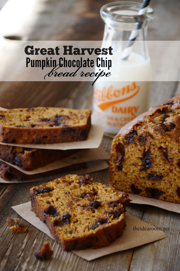 Great Harvest Pumpkin Chocolate Chip Bread - The Idea Room