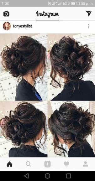 40 Ideen für Hochzeitsfrisuren halb hoch halb runter kurze Haare Highlights