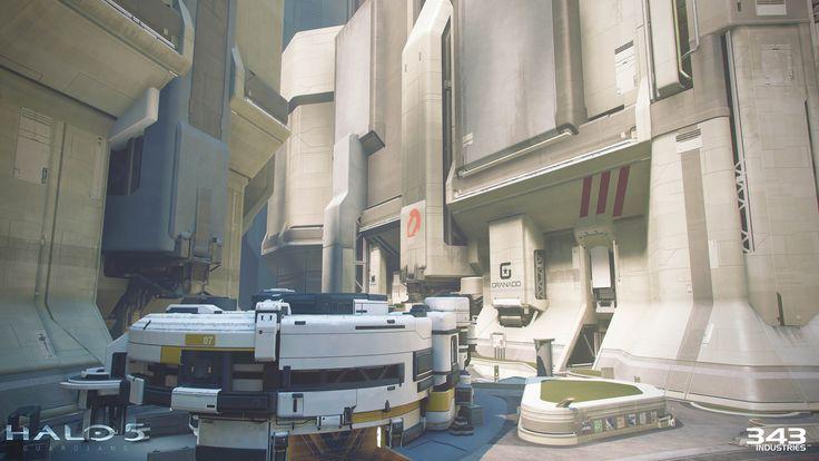 """ArtStation - Halo 5: Guardians DLC """"Battle of Noctus"""", Tim Diaz"""