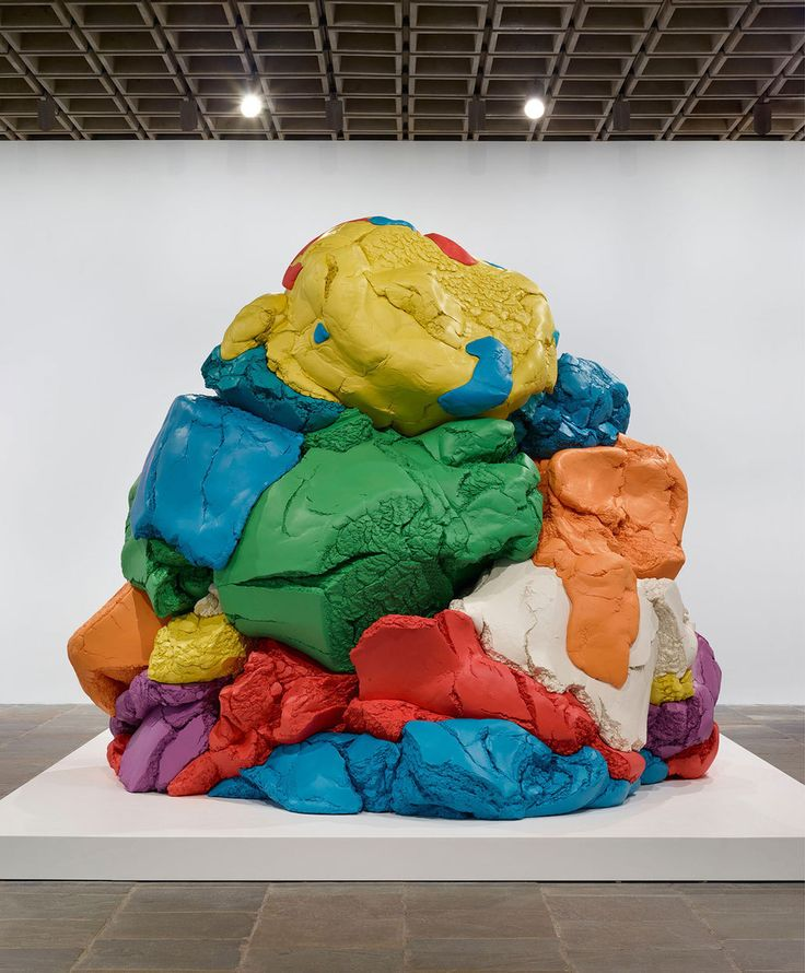 Jeff Koons, Play-Doh, 1994–2014. Polychromed aluminum; 120 × 108 × 108 in. (304.8 × 274.3 × 274.3 cm). Bill Bell Collection. © Jeff Koons