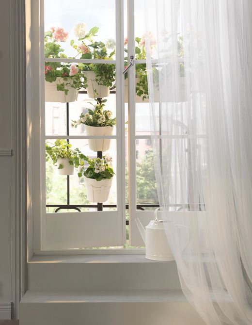 Got garden dreams but only a small apartment? Try extending your windowsill using rails or a balcony outside