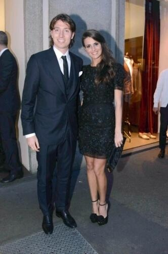 Montolivo and Cristina at the ICON event