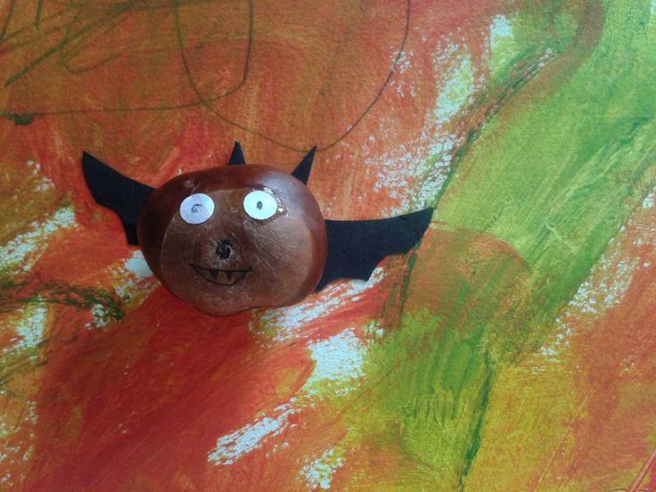 DIY facile enfant - Halloween marrons chauve-souris