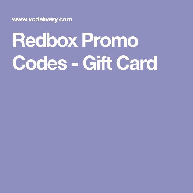 Redbox Promo Codes         - Gift Card