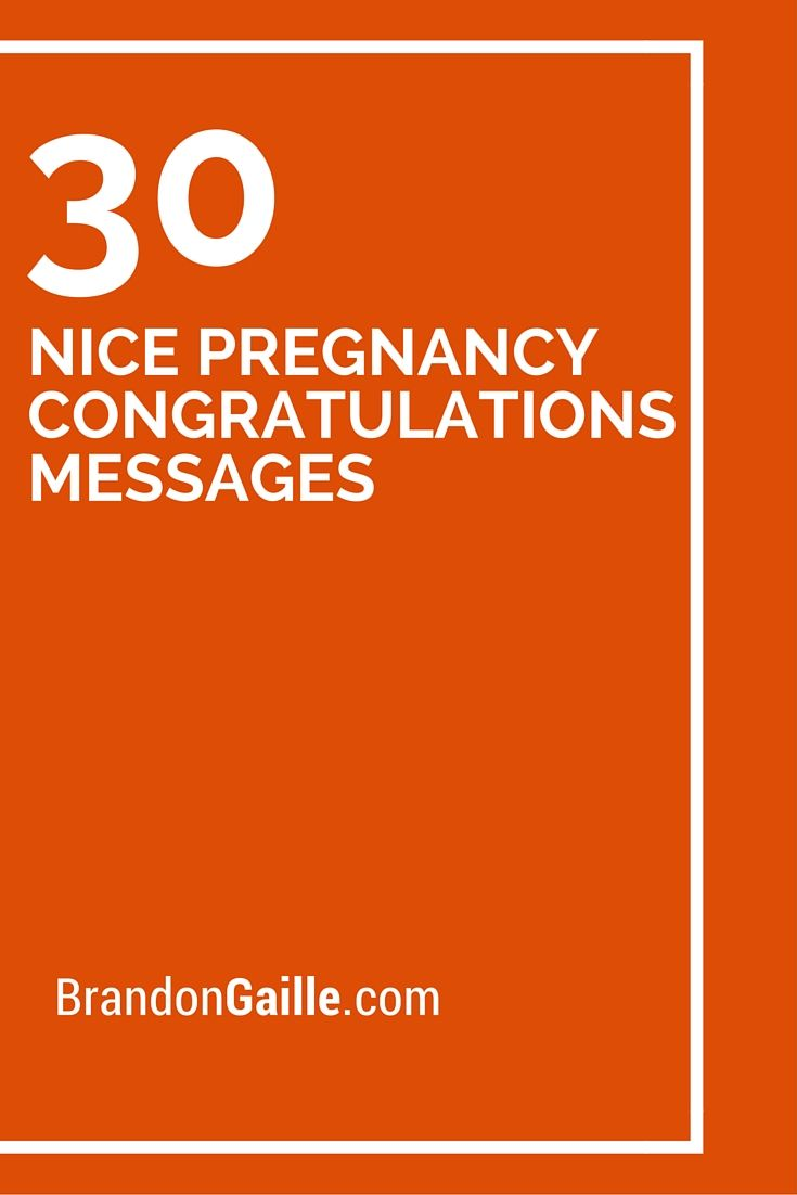 30 Nice Pregnancy Congratulations Messages