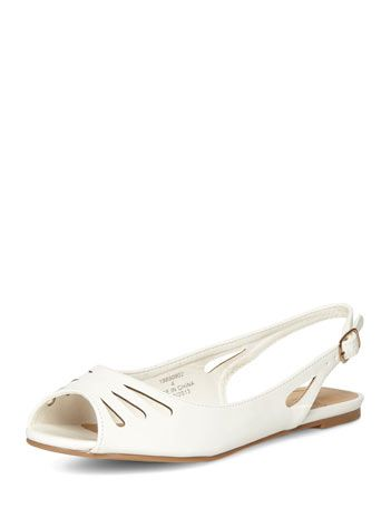 White patent slingback pumps - View All Shoes - Shoes