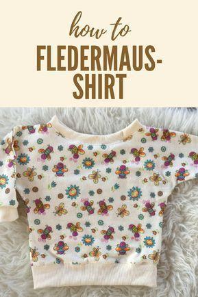 So erstellst du ein Schnittmuster für ein schnelles Fledermaus-Shirt ...