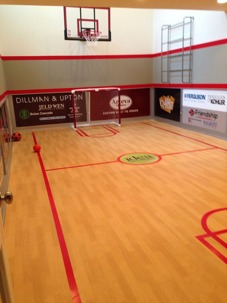 basketball court in basement dream house for the home