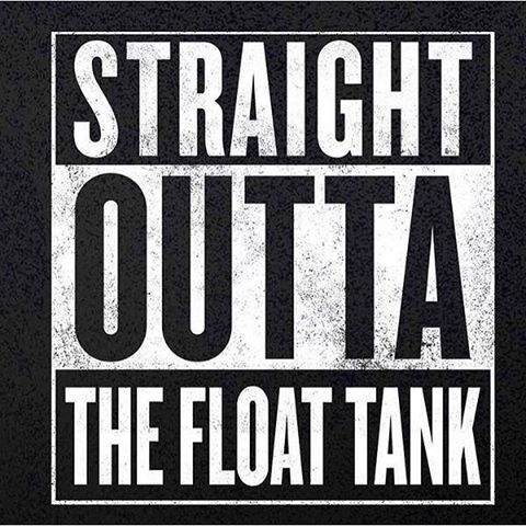 We had to.... #floating #floattank #cedarrapids #iowa #relax #rejuvenate #magnesium #athletes #meditation #isolationtank #honestfloating