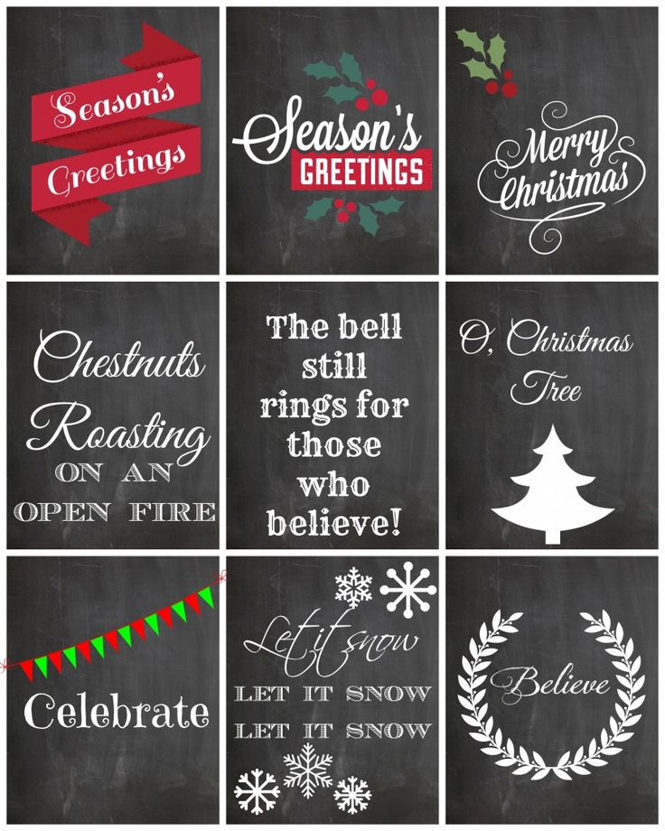 Chalkboard Printables (Free) Love a cute chalkboard for gift tags! #AlexiaHolidays