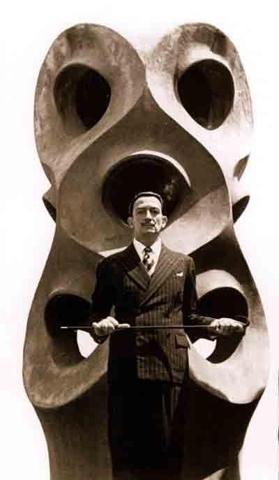 Salvador Dali at Casa MIla in 1951