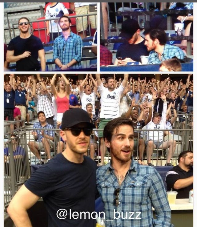 Josh Dallas and Colin O'Donoghue watch the Vancouver Whitecaps together on July 12, 2014. I'm so desperate for OUAT, I'll pin anything at this point ;)
