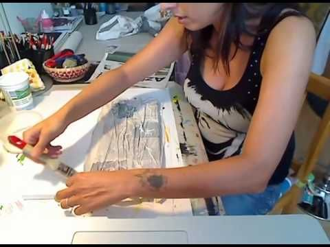 pittura materica - fondi con carta - parte 1