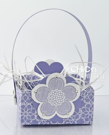 Pretty little basket with SU items