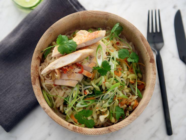 Vietnamesisk nudelsallad med citrongräs | Recept från Köket.se