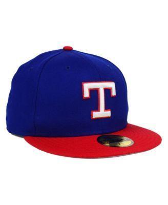 New Era Texas Rangers Mlb Cooperstown 59FIFTY Cap - Blue 7 1/2