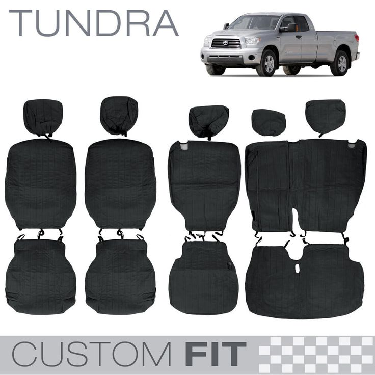 Custom Fit Encore Black Seat Cover for Tundra (4DR Crew Max)
