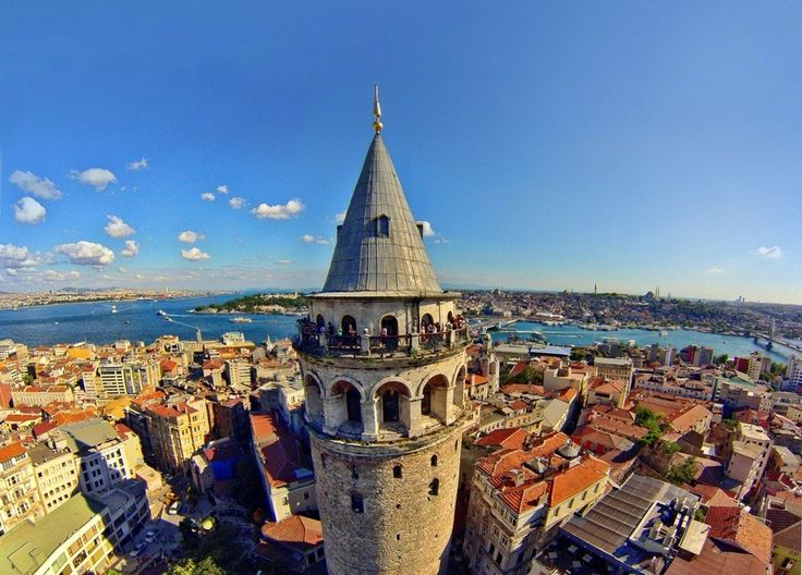 Galata was the Genoese neighborhood of Byzantine Constantinople and Ottoman Istanbul. Galata Square today, very lively with cafes and restaurants. The Galata Tower offers great view of Bosphorus.