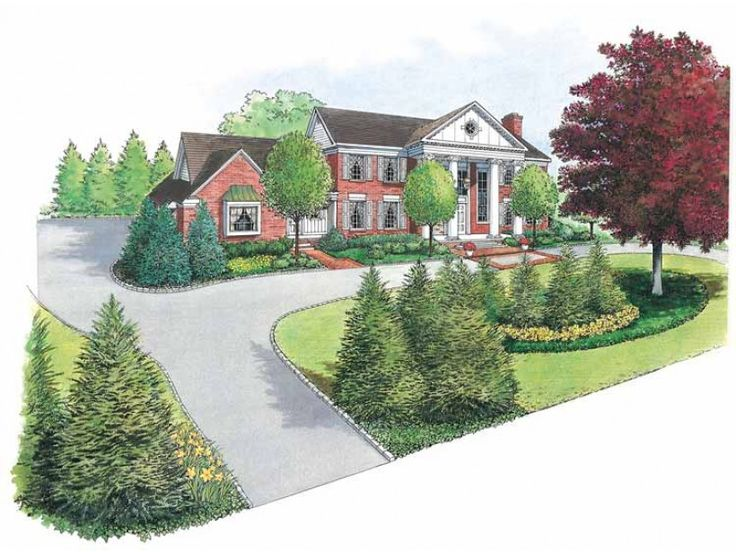 Best 25 circle driveway ideas on pinterest driveway for House plans with circular driveway