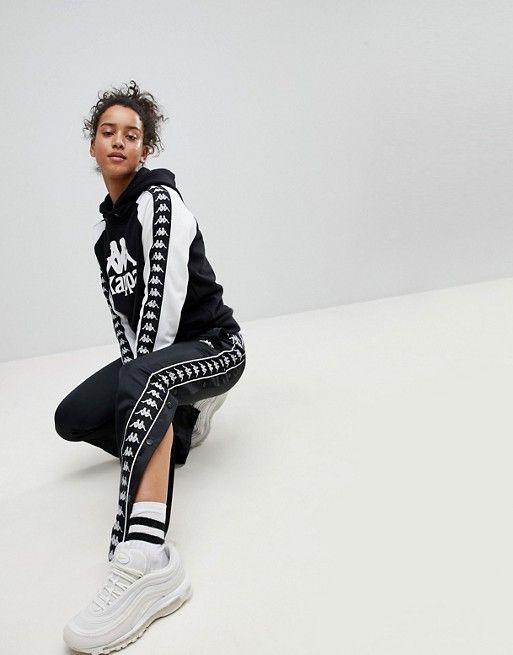 8042edd3 Kappa Relaxed Tracksuit Bottoms With Popper Sides Co-Ord | Stuff to ...