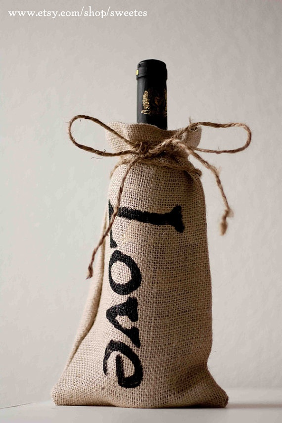 Burlap Wedding Favor Bags Wholesale : Bags, Wedding Gift, Gift Ideas, Burlap Bottle, Bottle Bags, Burlap ...