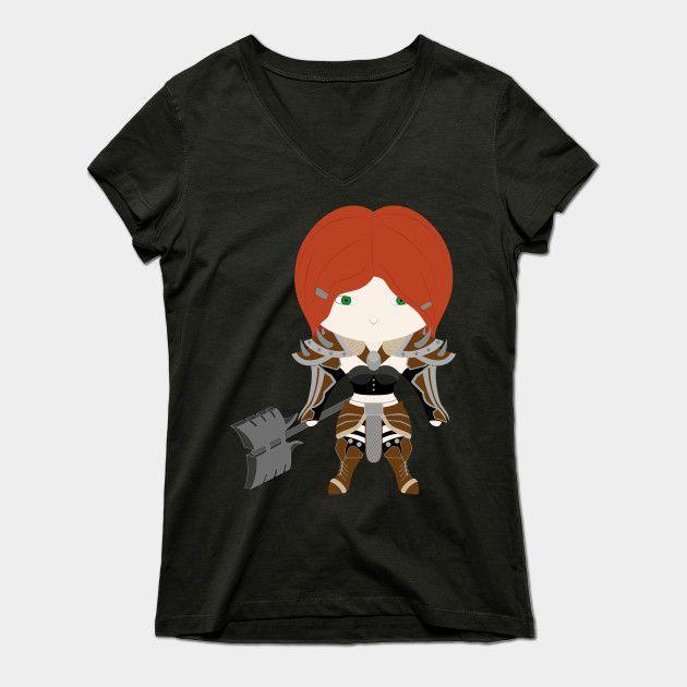 Barbarian Diablo 3 Womens V-Neck T-Shirt