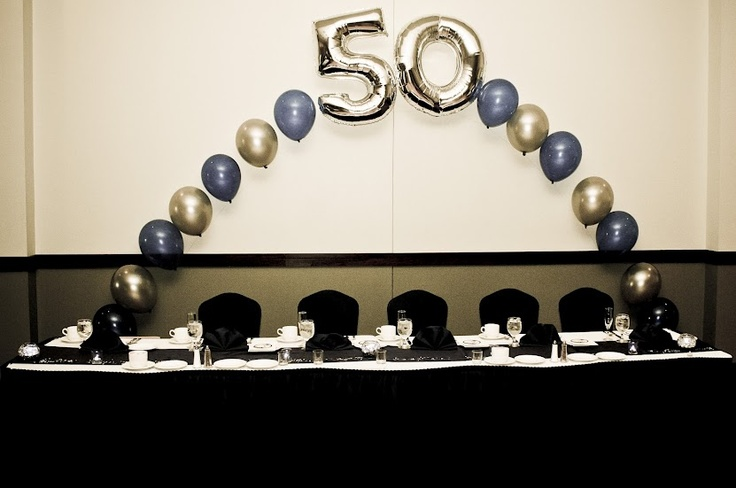 Easy and bright balloon decorations 50th birthday party for 50th party decoration