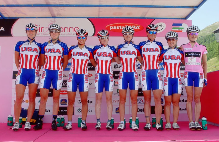 Women's cycling athletes