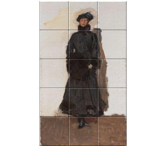 Mata Hari Isaac Israels wird bereits in jungen Jahren im Atelier von …   – Ceramic Tile Tableaus