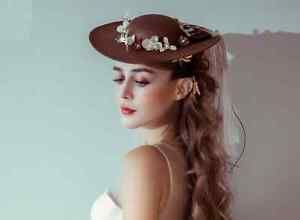 Ladies Fascinator Spring Racing Wedding Cotton Linen Coffee HAT Veilling Clip ON | eBay