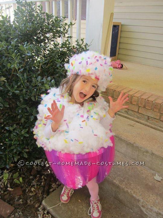 Sweet Homemade Cupcake Costume for a Girl...