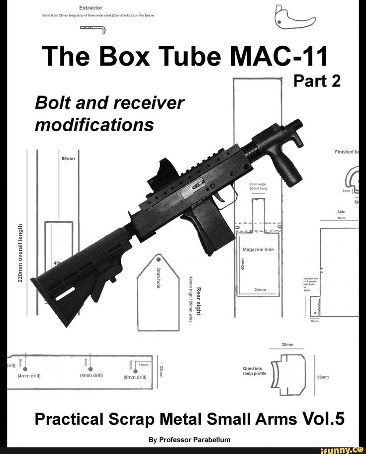 The Box Tube MAC-11 Part 2 Bolt and receiver modifications