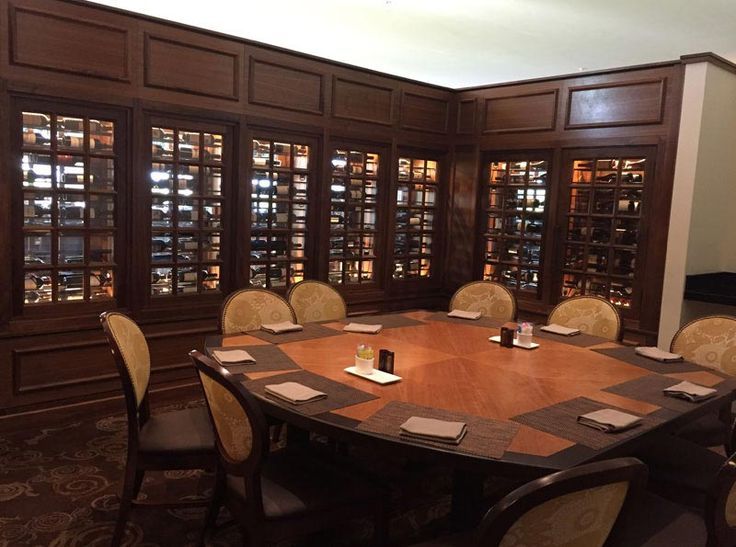 A Series Of Black Walnut Refrigerated Wine Cabinets Enclose The Hotel  Hersheyu0027s Private Circular Dining Area