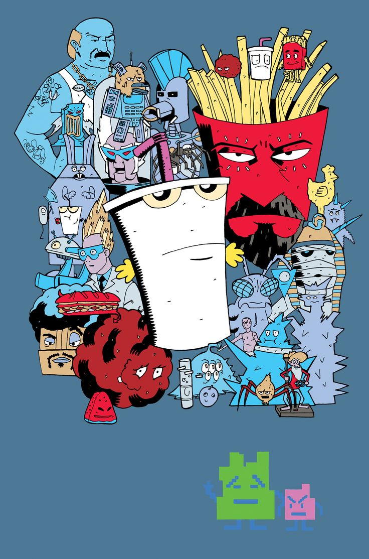 AQUA TEEN HUNGER FORCE T! by *future-parker on deviantART